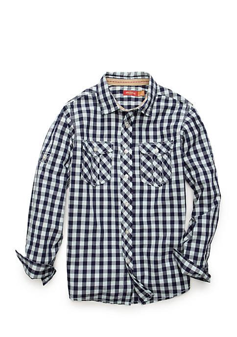 3d2e679439fcf6 Red Camel® Check Poplin Shirt Boys 8-20