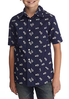 Red Camel® Printed Woven Button-Front Shirt Boys 8-20
