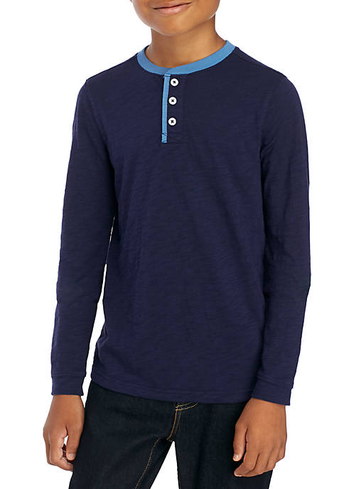 TRUE CRAFT Boys 8-20 Long Sleeve Henley