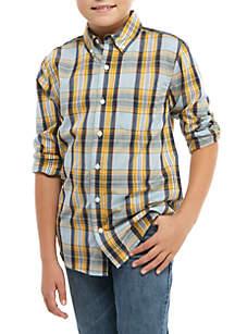 TRUE CRAFT Boys 4-8 Long Sleeve Woven Top