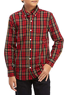Boys 8 - 20 Long Sleeve Plaid Woven Shirt