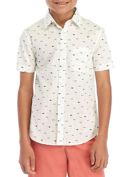 Boys 8-20 Short Sleeve Easy Care Woven Shirt