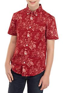 TRUE CRAFT Boys 8-20 Short Sleeve Easy Care Woven Shirt
