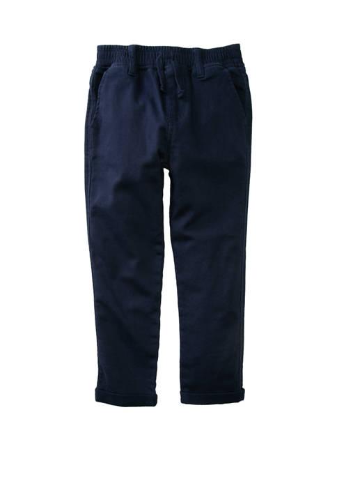 Flapdoodles Boys 4-7 Knit Woven Pants
