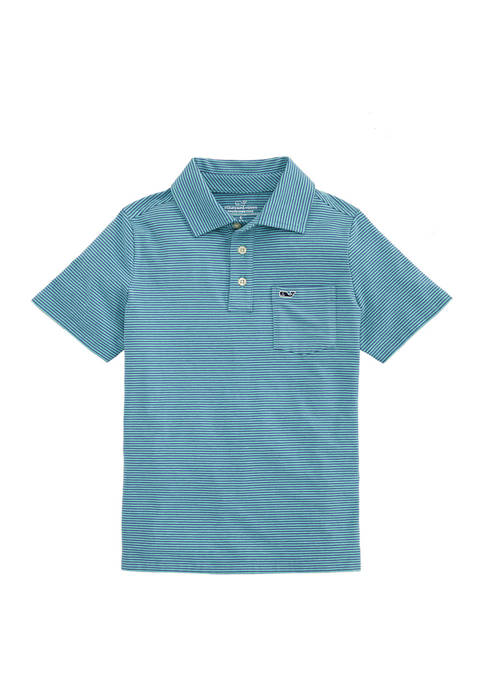 Vineyard Vines Boys 8-20 Feeder Stripe Edgartown Polo