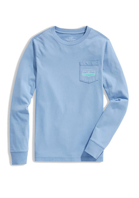 Boys 8-20 Vineyard Transom Long Sleeve Pocket T-Shirt