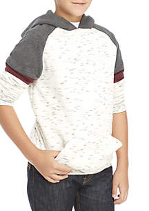Boys 8-20 Popover Color Block Sleeve Hoodie