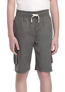 Boys 8-20 Pull On Light Weight Twill Cargo Shorts