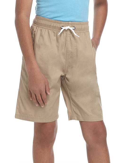 Boys 8-20 Pull-on Flat Front Lightweight Shorts