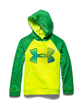 b65b20241 Under Armour®. Under Armour® Storm Armour Fleece Jumbo Big Logo Hoodie Boys  8-20