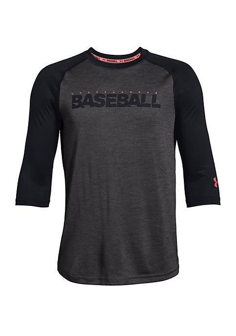 Under Armour® Boys 8-20 Baseball 3/4 Sleeve Tee