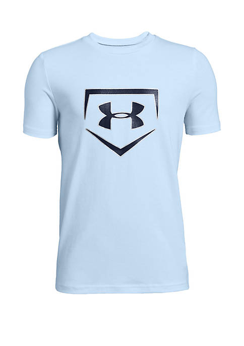 Under Armour® Boys 8-20 Baseball Plate Icon Graphic