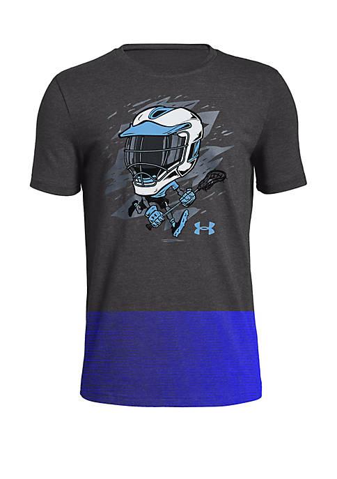 Boys 8-20 Lacrosse Player Helmet Graphic Tee