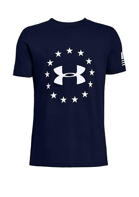 Under Armour® Boys 8-20 UA Freedom Logo Tee