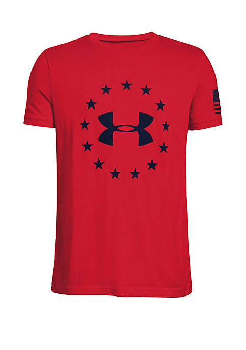 Boys 8-20 UA Freedom Logo Tee