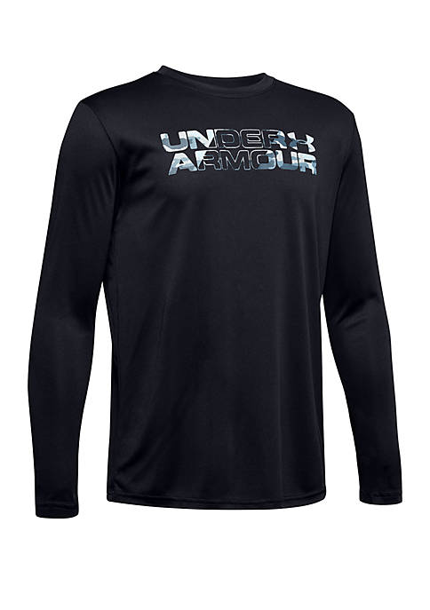 Boys 8-20 UA Big Logo Long Sleeve T Shirt