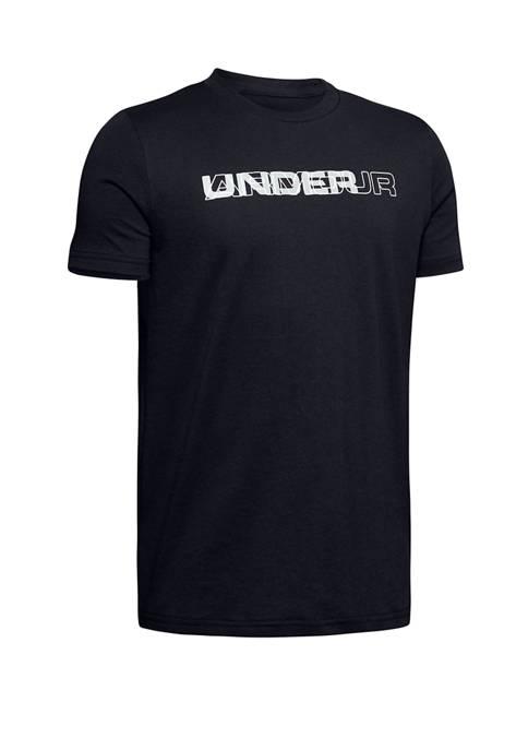 Under Armour® Boys 8-20 Layered Wordmark Short Sleeve