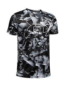 Under Armour® Boys 8-20 Printed Big Logo Tee