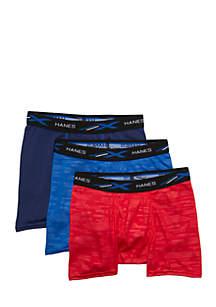Boys 4-7 3-Pack Tagless X-Temp Boxer Briefs