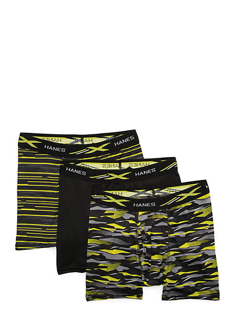 Hanes® Boys 4-7 3-Pack Boxer Briefs