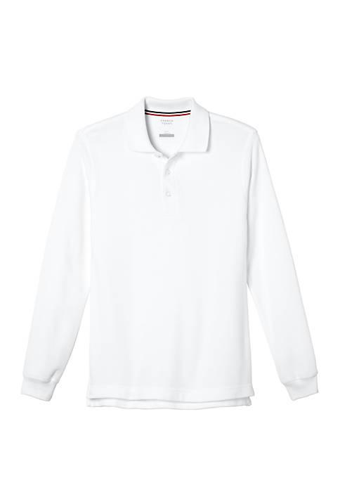 Boys Long Sleeve Piqué Polo Shirt