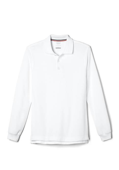 French Toast Boys Long Sleeve Piqué Polo Shirt