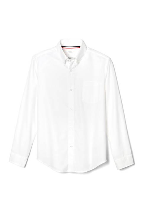 French Toast Boys Long Sleeve Oxford Shirt