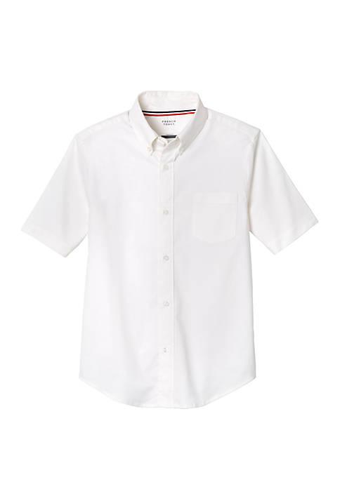French Toast Boys Short Sleeve Oxford Shirt