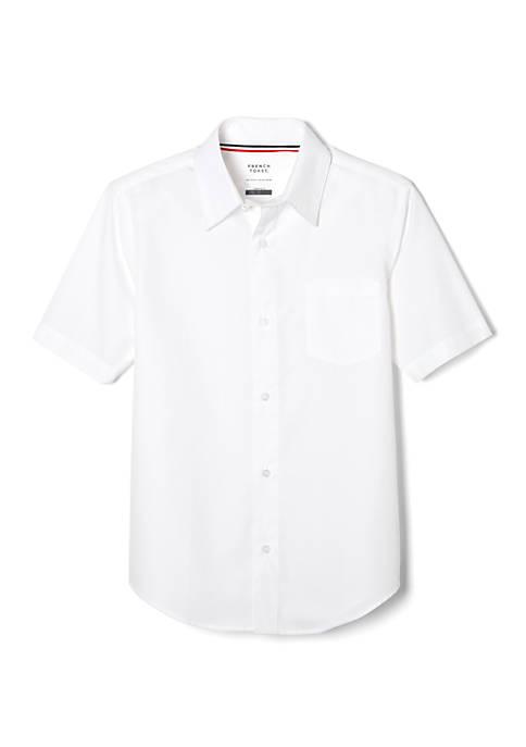 French Toast Girls Short Sleeve Classic Dress Shirt