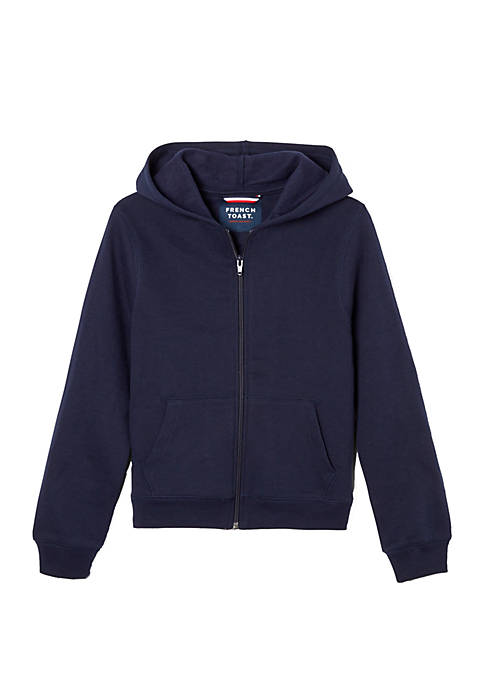 French Toast Boys 8-20 Zip Front Fleece Hoodie