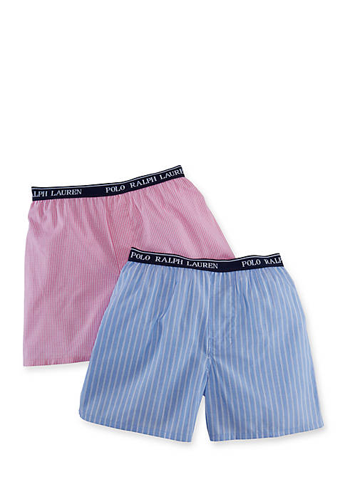 Ralph Lauren Childrenswear 2-Pack Woven Boxer Shorts Boys
