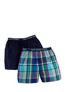 2-Pack Woven Boxer Shorts Boys 8-20