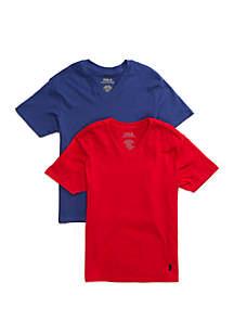 Ralph Lauren Childrenswear Boys 4-20 V Neck Undershirt Set