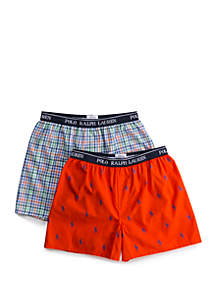 Ralph Lauren Childrenswear Boys 4-20 Woven Boxer Set