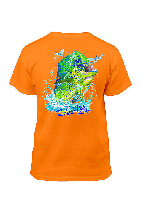 Salt Life Short Sleeve Mahi Head Tee Boys