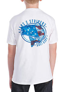 Boys 8-20 Stars & Stripes Bass T Shirt