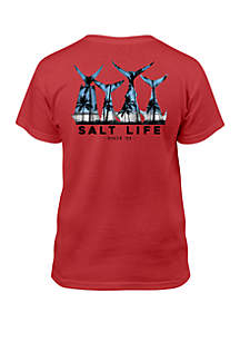 Salt Life Boys 8-20 Scenic Fish Tail Tee