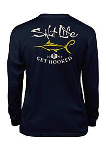 Boys 8-20 Get Hooked Long Sleeve Tee