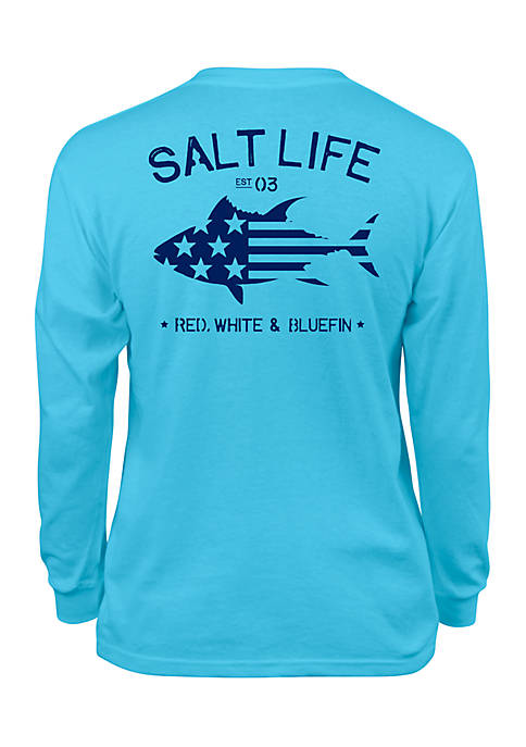 Salt Life Boys 8-20 Red White and Bluefin