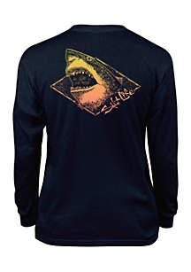 Boys 8-20 Electric Shark Long Sleeve Tee