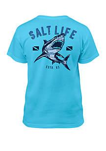 Salt Life Boys 8-20 Camo Shark Tee