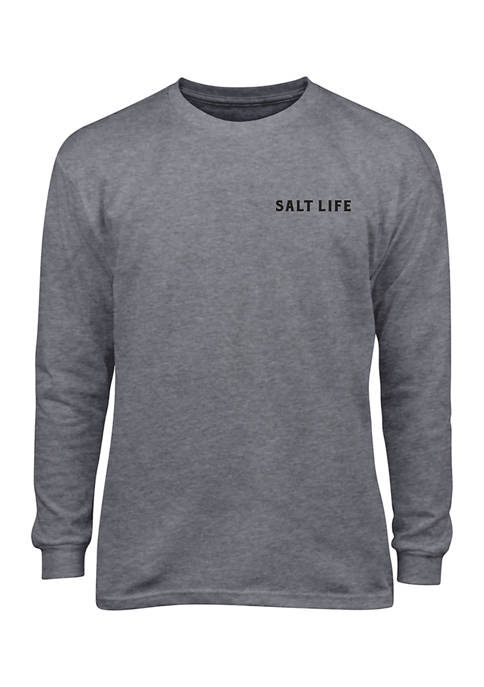 Boys 8-20 Red, White and Bite Long Sleeve T-Shirt