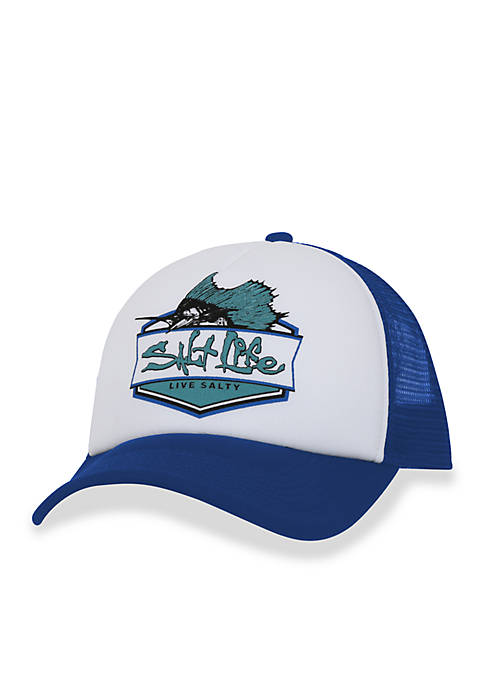 Salt Life Sailfish Badge Snapback Hat Boys 8-20