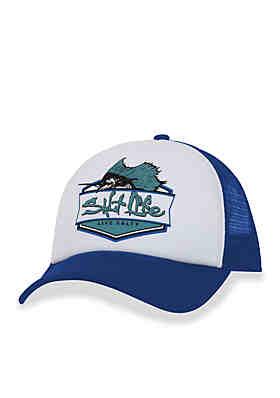 Salt Life Sailfish Badge Snapback Hat Boys 8-20 ... 36630f7d676f