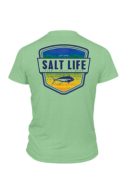 Salt Life Electric Skinz Badge Performance Graphic Tee