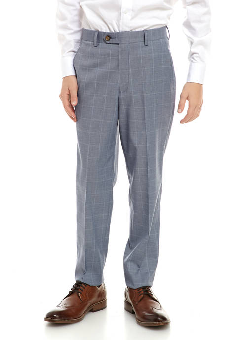 Lauren Ralph Lauren Boys 8-20 Blue Windowpane Suit