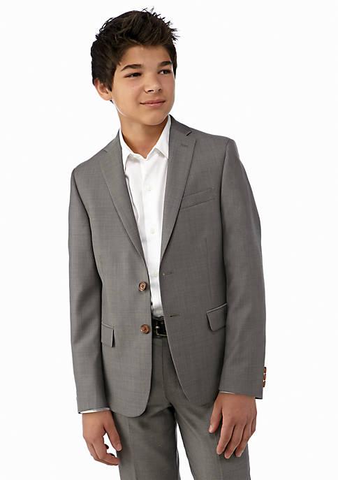 Gray Pindot Blazer Boys 8-20