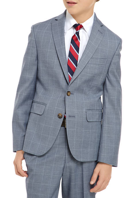 Lauren Ralph Lauren Boys 8-20 Textured Windowpane Suit