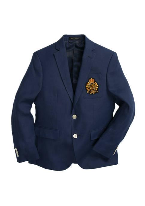 Lauren Ralph Lauren Boys 8-20 Navy Linen Suit