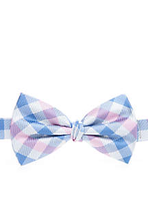 Gingham Check Bow Tie Boys 8-20